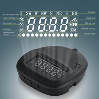 Universal car HUD GPS A1 Head Up Display vehicle alarm security system Speedometer KMH/MPH Overspeed For All Vehicle volvo