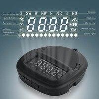 Universal car HUD Wyświetlacz Head Up pojazdu alarm security system GPS A1 Prędkościomierz KMH/Overspeed MPH Dla Wszystkich Pojazdów volvo