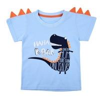 a summer story Children T Shirt Boy Jurassic World Printed Clothes Casual Fashion Cartoon Animal Dinosaur godzilla Tshirt Kids