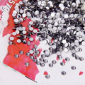 1440pcs/bag the black diamond color Non Hotfix Flatback Rhinestones for Nails 3D Nail Art Decoration Glitter Crystal