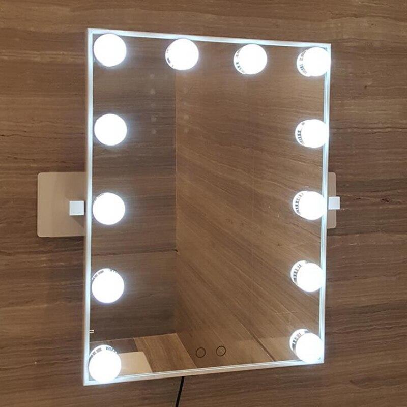 Hollywood Super Star Stijl LED Voorkomen de nagel muur Vanity Make Up Spiegel Lichten van wit gele lichten swap touch screen - 4