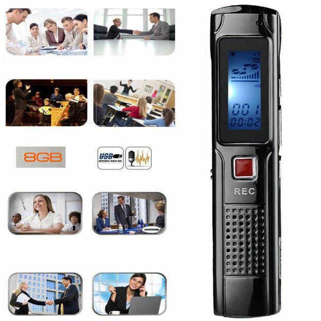 Бесплатная доставка 8 Гб Сталь стерео Запись Мини цифровой диктофон Регистраторы аудио Регистраторы MP3 плеер с наушники # YL