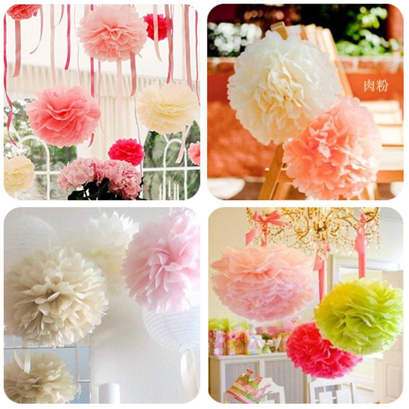 2pcslot 50cm largest fake flower ball tissue rice paper garland 2pcslot 50cm largest fake flower ball tissue rice paper garland pendant 14 colors hanging wreath pompom outdoor party ornaments in party diy decorations mightylinksfo