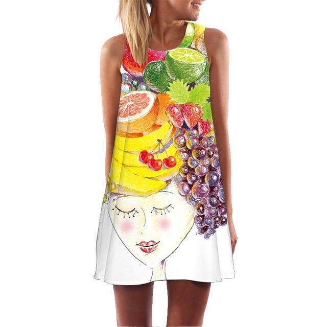 New Tunic Sleeveless Summer Dress 2018 Van Gogh Starry Night 3D Cothing Women Boho Vintage Beach Dress Casual Work Office Dress
