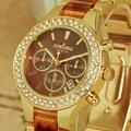 Estilo Hot Famosa Marca Top Mulheres de Luxo em Ouro Rosa Relógios de Quartzo Das Senhoras do Relógio de Pulso Da Liga Moda Quartzo-relógio orologio donna