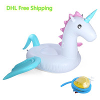 Inflatable Giant Pegasus Floating Rideable Swimming Pool Toy Float Raft Floating Row White Swan Floating Row For Holiday Water