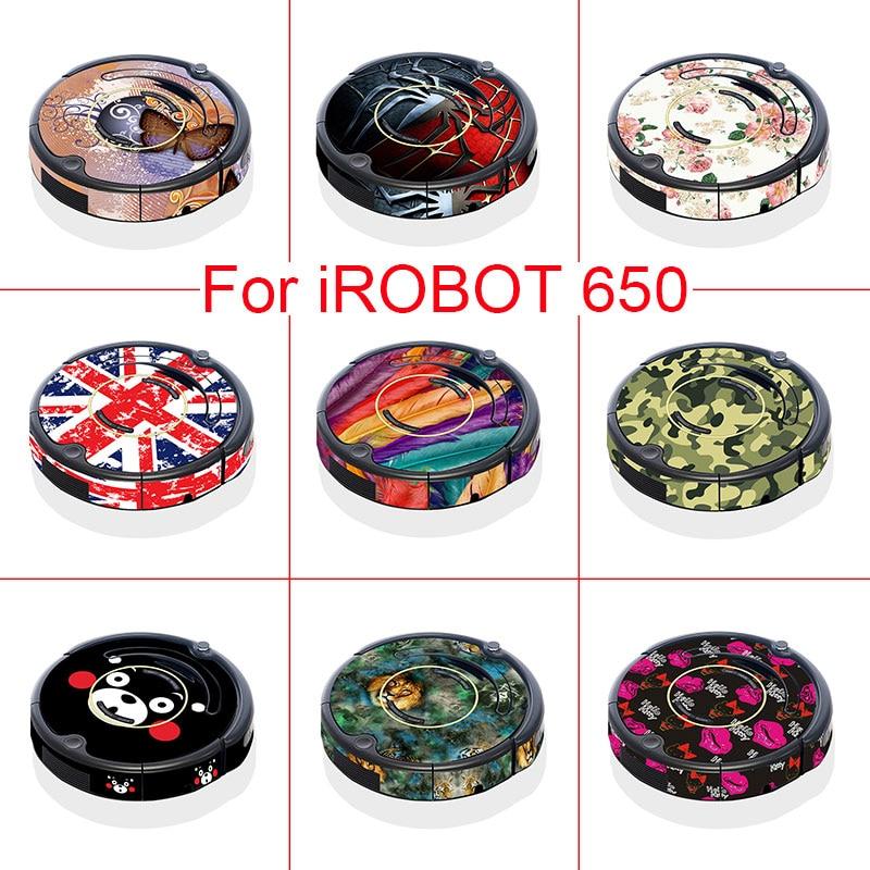 9 Models Skin Decal Vinyl Wrap for iRobot Roomba 650 Vacuum  Cleaner Robotic Sticker Slap Protective Film irobot 650 i robot rosewood wood grain decal vinyl wrap film sticker for floor furniture car interier size 1 24x50m roll 4ft x 165ft