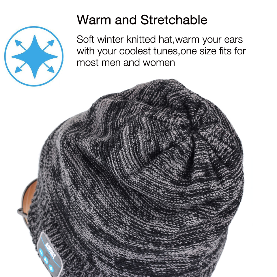 deace70cfa2 August EPA20 Bluetooth Cap Winter Beanie Hat with Stereo Speaker and  Microphone Wireless Headphone Earphone for Outdoor Sports-in Bluetooth  Earphones ...