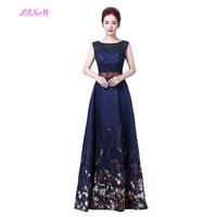 09b5887c0f3fc Elegant Floral Print Bridesmaid Dresses A Line Empire Wedding Guest Dress  Scoop Sleeveless Formal Long Dress