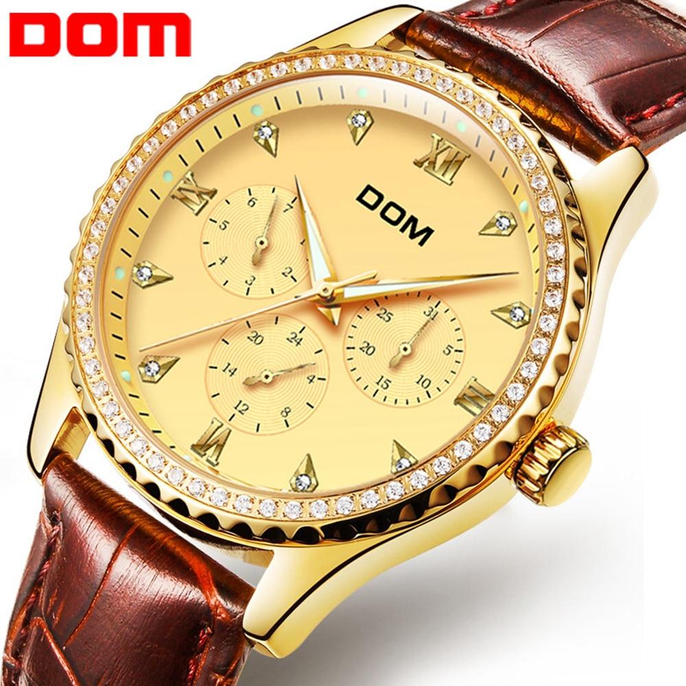 2018 DOM Watches Men Luxury Brand Quartz Watch Fashion Luminous Waterproof Sport Reloj Hombre Clock Male hour relogio Masculino