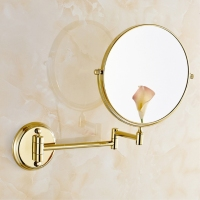 Bathroom Mirrors 8 Inch Double Faced Wall Mount 1x3 Magnifying Brass Mirrors Accessories European Bathroom Makeup Mirrors 1308A