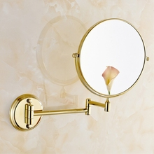 8 Spinning 360 degree desktop Antique 1x3 Magnifying double faced 2 makeup mirror cosmetic table 728F