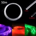 Kunststoff Fiber Optic Kabel Ende Leuchten 50m x 0,75mm/1,0mm PMMA Led Licht Klar DIY Für FÜHRTE Sterne Decke Licht Drop Verschiffen