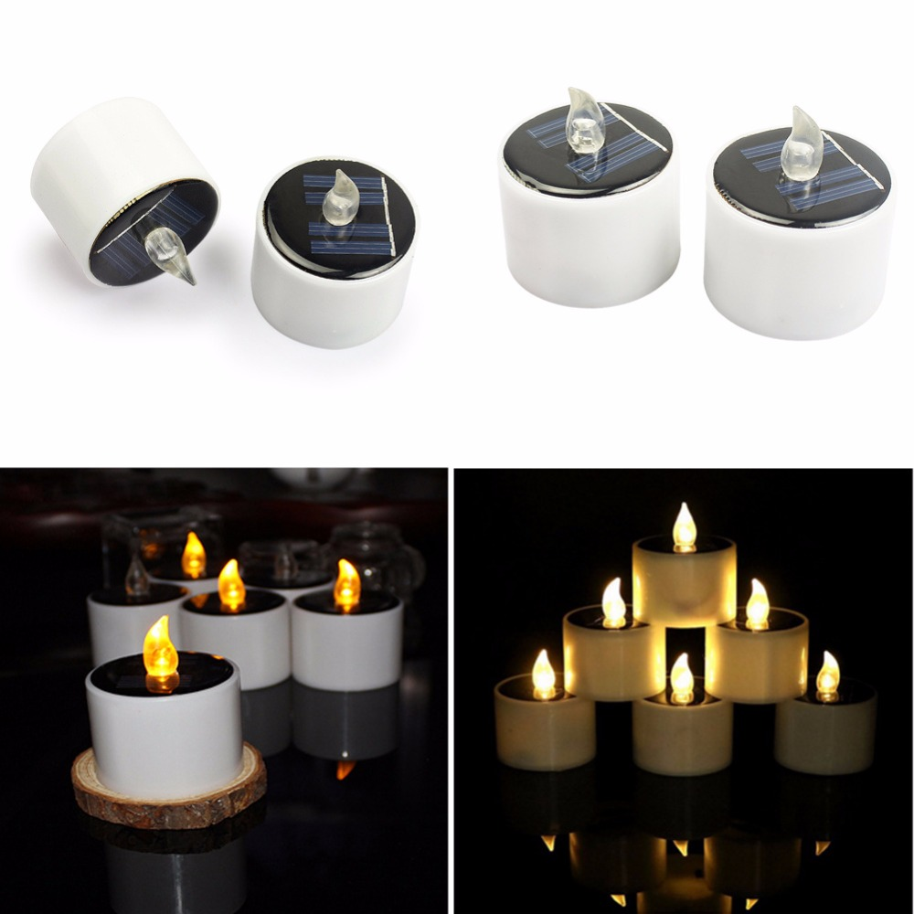Solar Power LED Candle Lights Tea Light Candles Home Lighting ...