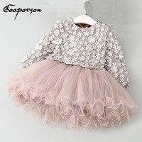 Dziewczynek Tutu Sukienka Kwiat Moda Wiosna Sukienka Z Długim Rękawem Ubrania Dla Dzieci Księżniczka Sukienki I Zabawy Dla Dzieci dziewczyny Ubrania