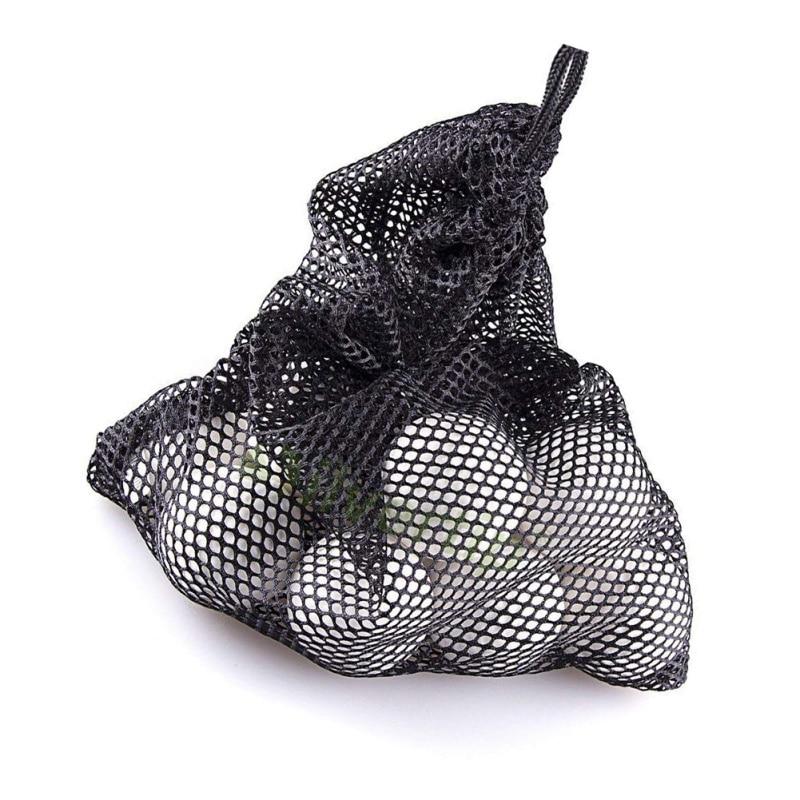 Golf Tennis Nets Bag Outdoor Sports Nylon Mesh Pouch Golf Hold Up To 45 Balls Holder Golf Balls Storage Closure Training Aid