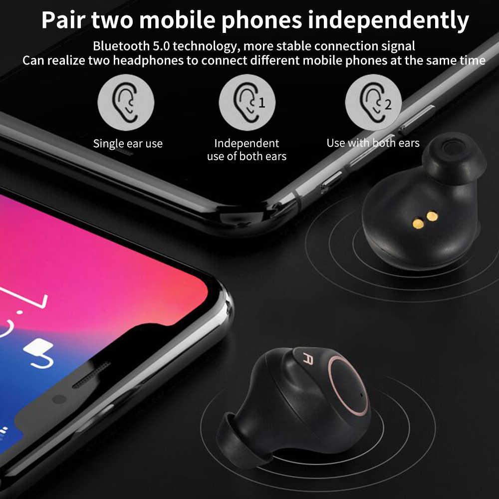 T1 aptX bezprzewodowy zestaw słuchawkowy Bluetooth 5.0 douszne 7hrs słuchawki IPX7 wodoodporny bas pomocy i współpracy administracyjnej i SBC słuchawki QCC3020 procesor Apt-X TWS zestaw słuchawkowy