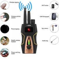 T8000 Anti Spy Anti Hidden Camera Detector RF Bug Detector Wireless Signal Scanner Alarm Security Motion Vibration Sensor