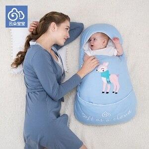 Спальный мешок для новорожденных из чистого хлопка для новорожденных, зимний спальный мешок для младенцев