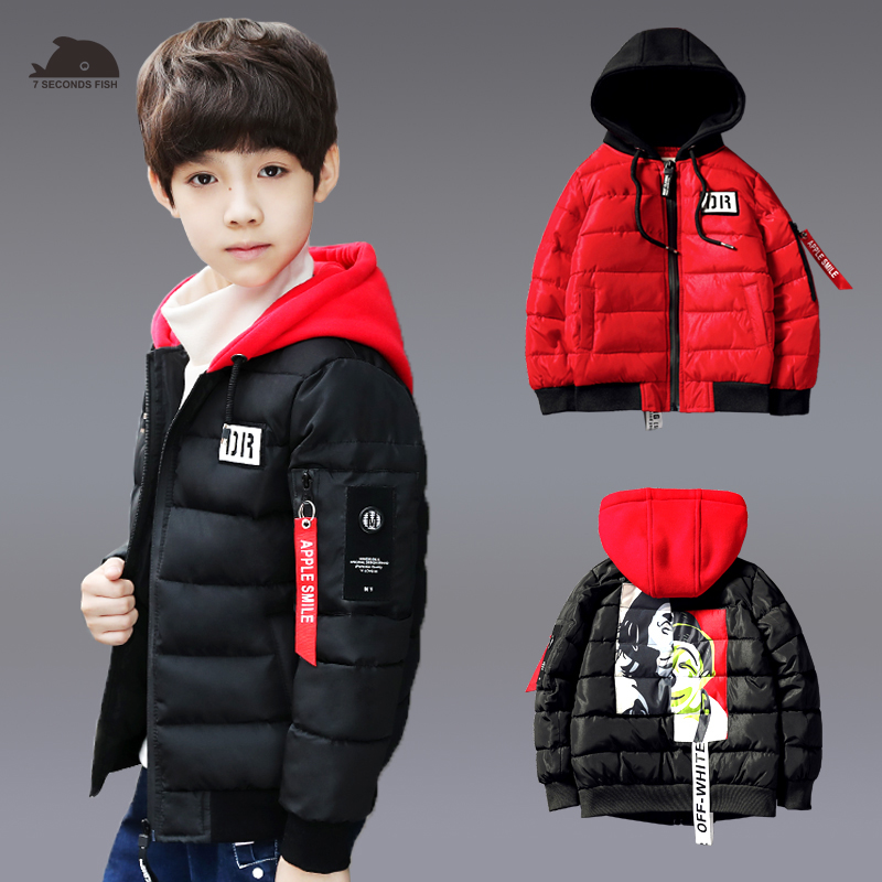 Boys Winter Jackets Warm Coat Kids Clothes Snowsuit Outerwear & Coats Children Clothing Baby Hooded Jacket Infant Parkas boys pu leather jacket boys coats autumn winter clothes 2017 children outerwear for clothing infant kids coat boy jackets