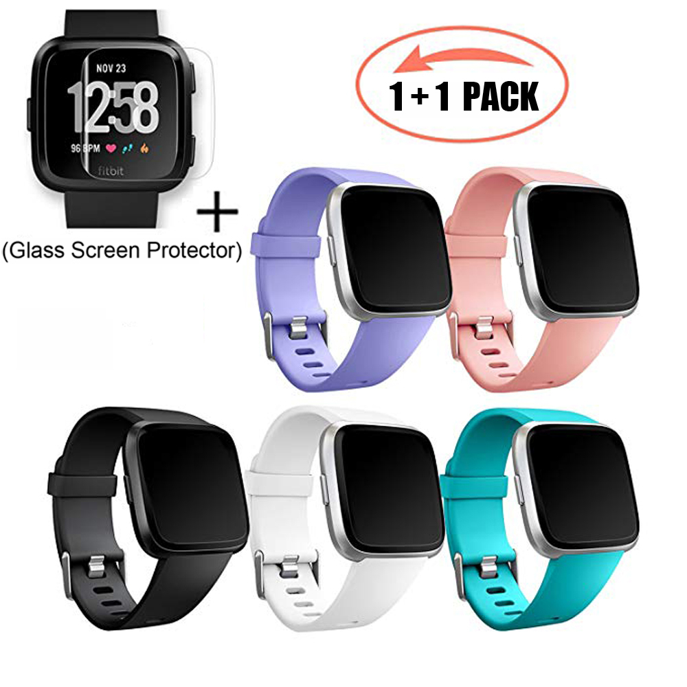 Strap Screen-Protector Bracelet Wrist-Accessories Replacement Coolaxy-Band Fitbit Soft-Silicone