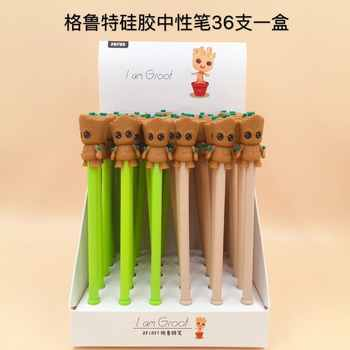 36pcs/pack many designs cartoon Mario panda bear princess monkey alpaca groot creative gel pen water Rollerball pen sign pen