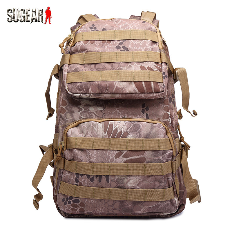 ФОТО Outdoor Hunting Waterproof Backpack Military Camouflage Heavy Duty Hiking & Camping Utility Pouch Tactical Breathable Tool Bag