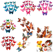 12 Pcs Home Decor DIY Wallpapers 3D Butterfly Sticker Wall Decal Decor Stickers Mural Art Decal Home Bedroom Room Decoration YX#