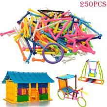 250 шт. детские раннего обучения подарки пластиковые разведки палочки образовательные строительные блоки игрушки ручной работы diy @ z71