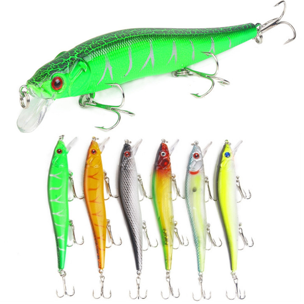 1PCS Minnow Fishing Lure 11.5cm 15g Artificial Isca Wobblers Crankbait Quality Treble Hook For Trout Pike Carp Fishing Tackle