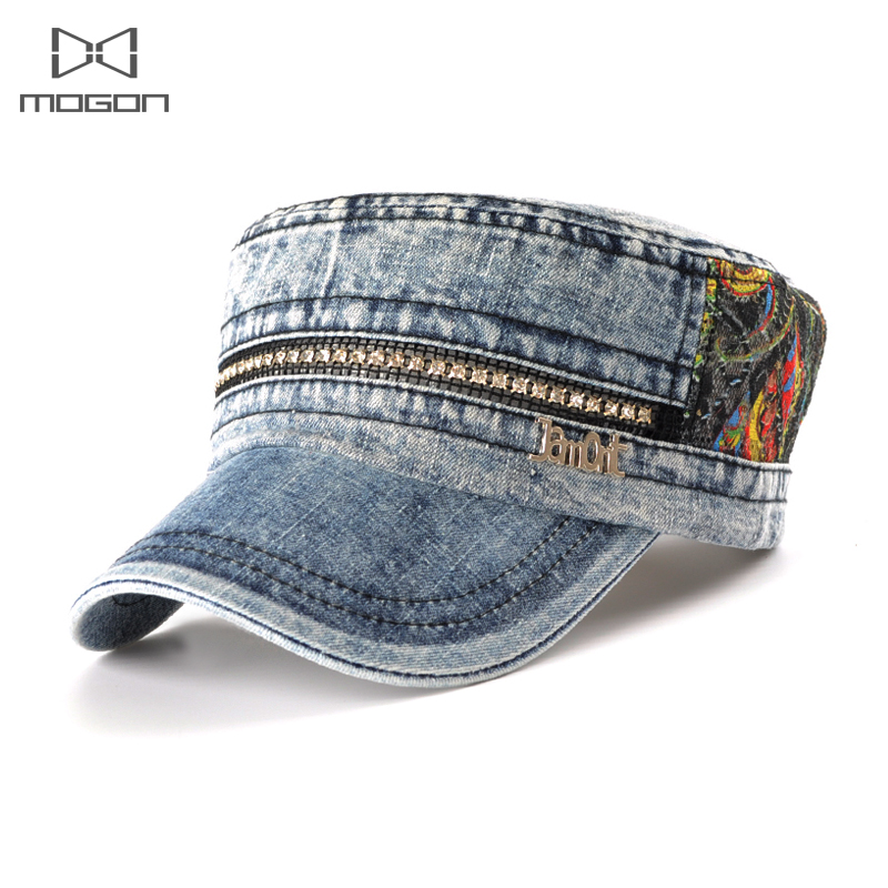 1a7fd41d451 Mogon Rushed Patchwork Adult Casual Cotton 2018 Simple Fashion Army Hat  Cowboy Women Outdoor Flat Top -in Berets from Apparel Accessories on  Aliexpress.com ...