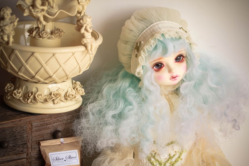 BJD Doll Change Color Wigs Under Different Lights For 1/3 1/4 1/6 BJD DD SD MSD YOSD Doll Long Curly Hair Wigs