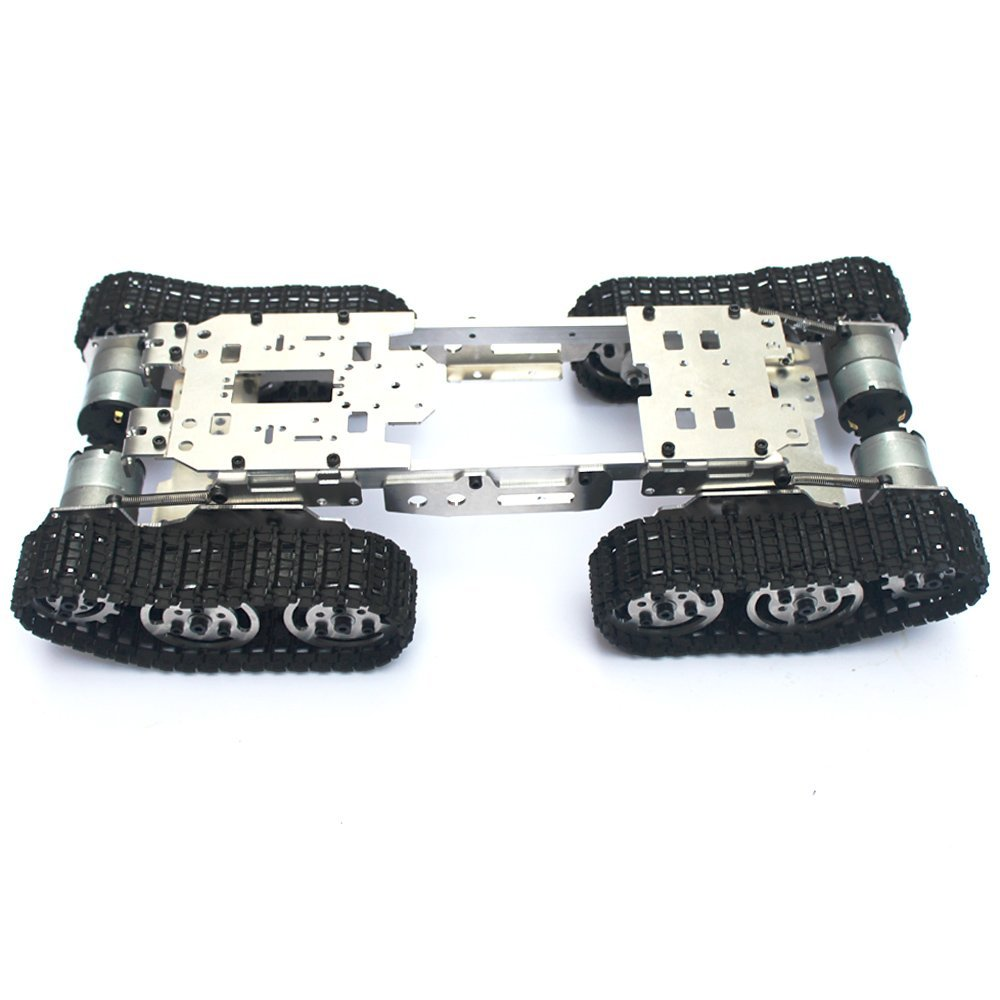 DIY RC Tank Chassis with Rubber Caterpillar Tread Track for RCl Car RC Tank Model Robot Track Tire RC Tank Chassis