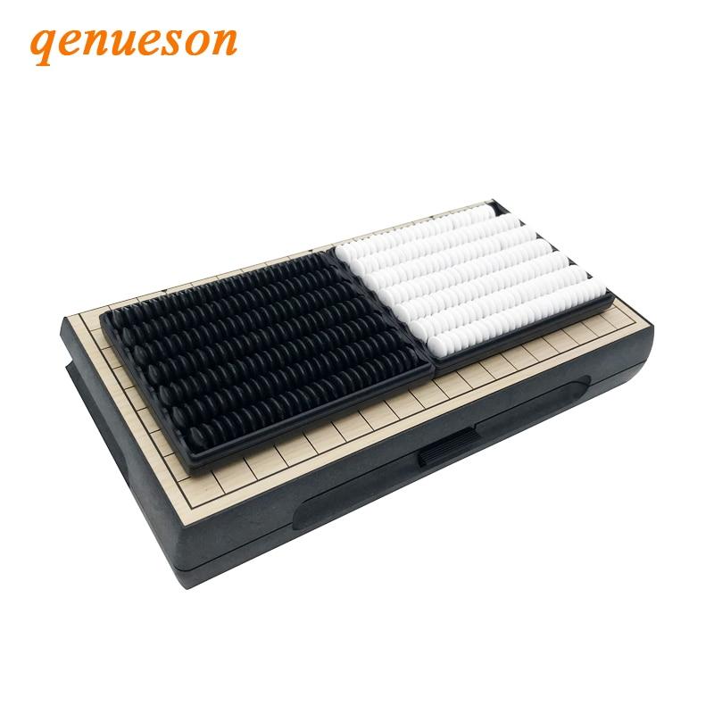 Weiqi – jeu classique de 19 Go de route, Table pliante, en plastique, magnétique, jeu d'échecs, jeu de société, Gobang, jouet pour enfant, cadeaux