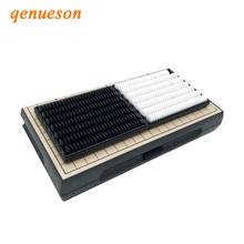 Top Quality Classic 19 Road Go Game Weiqi Checkers Folding Table Plastic Magnetic Go Chess Set Board Game Gobang Child Toy Gifts цены онлайн