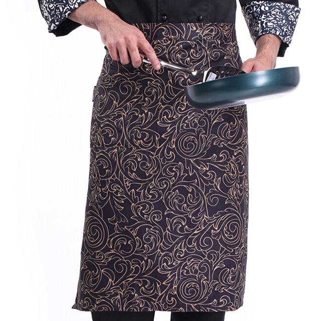 Kitchen Cooking Aprons Work Dining Half length Long Waist Western ...