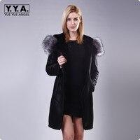 Зимняя мода Искусственная кожа Женская длинная куртка; теплое пальто jaqueta feminina de couro Chaquetas de Cuero mujer плюс Размеры