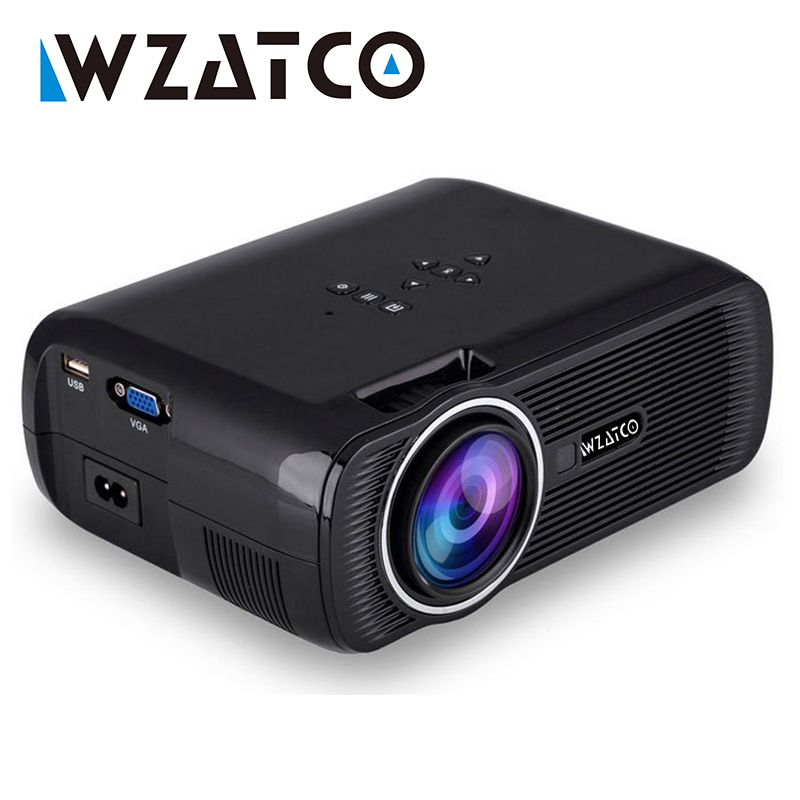 WZATCO Android 4 4 Wifi Mini TV Projector Home cinema portable HD multimedia proyector led lcd