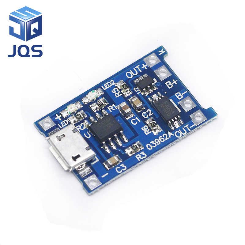 5 шт. Micro USB 5 V 1A 18650 TP4056 литий модуль зарядного устройства аккумулятора зарядная плата с двухканальная видеокамера с защитой функции 1A литий-ионный аккумулятор