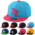 2016 New Cayler Sons Children NY Letter Baseball Cap Kid Boys And Girls Bones Snapback Hip Hop Fashion Flat Hat Baby Casquette