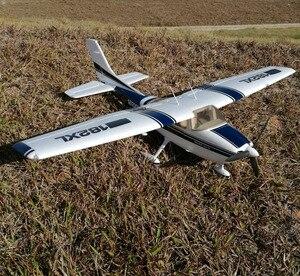 Novo rc avião cessna 182 epo 500 classe com faixas e luz led