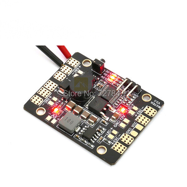 Matek LED & POWER HUB PDB 5in1 V3 Power Supply Board + BEC 5V 12v + Low Voltage Alarm+ Tracker Radio Control Led RC LED Toy Hub
