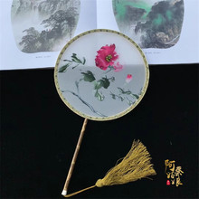 Suzhou embroidery palace fan pure hand boutique double-sided group Chinese style