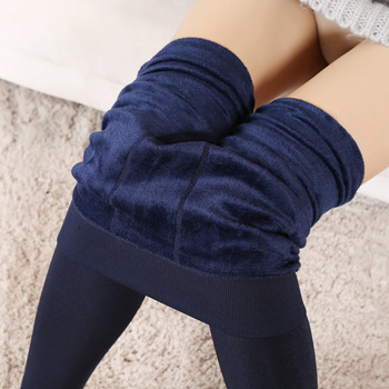 2018 Warm Velvet Leggings Winter Cotton Candy Colors Sexy Thick Faux Knitted Thicken Slim Stretch Legging for Women morden style elastic slimming warm thicken cotton blend checked winters leggings for women