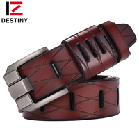DESTINY Top Genuine Leather Belts Men Luxury Brand Designer High Quality Military Strap Male Wide Pin