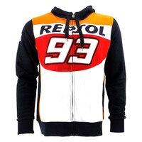Motorcycle Rossi VR46 93 REPSOL Jerseys Men S Fleece Tops The Doctor T Shirt Jackets 93