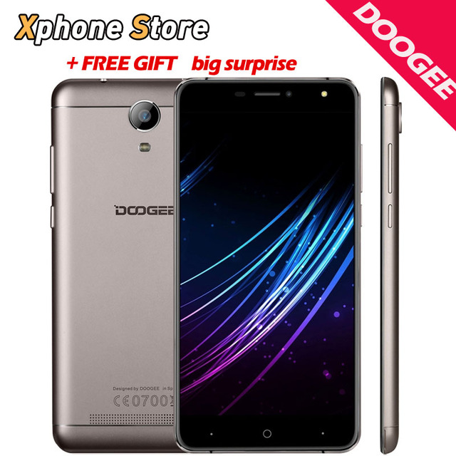 Оригинал Doogee X7 6.0 Дюймов Android 6.0 3 Г WCDMA Мобильного Телефона 1280x720 HD 1 ГБ 2 ГБ RAM 16 ГБ ROM 8MP Металлический Каркас 3700 мАч мобильный телефон