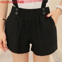 S XL Elastic Waist Plus Size Womens Shorts High Waist Shorts White Gray Black Shorts Woman