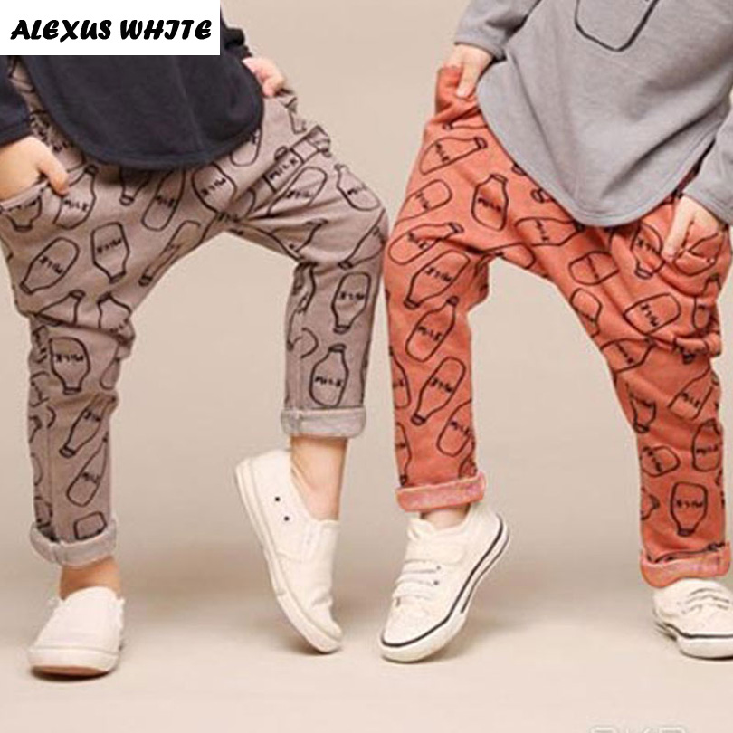 2017 Spring Bottle Print Harem Pants Boys Girls Children's Clothes Trousers Fashion Baby Kids Casual Pants