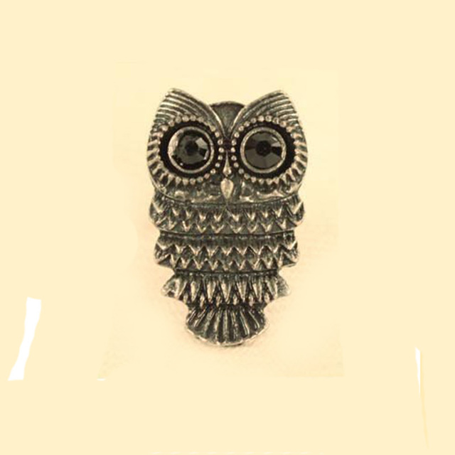 Hot Arrival Fashion Ancient Bronze and Silver Owl Ring, Retro Style Finger Ring For Women Party Wedding Cocktail R20 R21